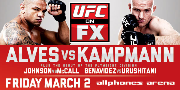 UFC on FX 2 'Alves vs. Kampmann' Results and Play-by-Play